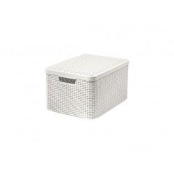 box úložný RATTAN 44,5x33x25cm (L) s víkem, STYLE2, PH KRÉM