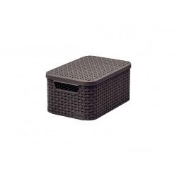 box úložný RATTAN 29x20x14cm (S) s víkem, STYLE2, PH HN