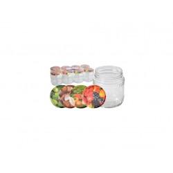 sklenice zavařovací  480ml TWIST 82 + víčka mix (8ks)