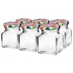sklenice 155ml + víčka barev. 55 (6ks)