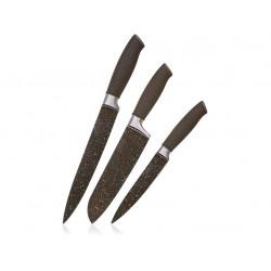 nůž PREMIUM Dark Brown sada 3díl.