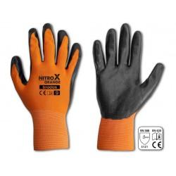 rukavice NITROX ORANGE nitril  8