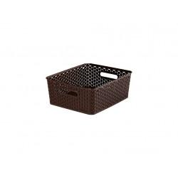 """box úložný RATTAN 35x30x13cm (M),\""""Y\"""" STYLE, PH HN"""
