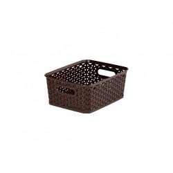 """box úložný RATTAN 25x20x10cm (S),\""""Y\"""" STYLE, PH HN"""