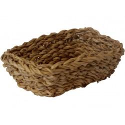 košík hranatý vysoký malý 18x18x14cm mořská tráva