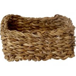košík hranatý nízký malý 18x18x8cm mořská tráva