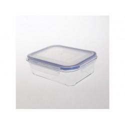 dóza obdélníková 20,5x15,7x7 cm, 1,05l sklo + PP víko