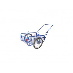 vozík PEGAS, komaxit, 450x640x280(1320)mm, nosnost 100kg