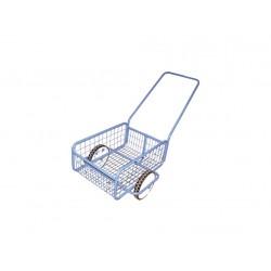 vozík POPULAR III, plochá obruč, komaxit, 418x618x232(1220)mm