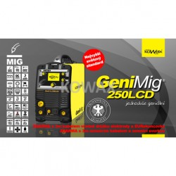 GeniMIg 250 LCD 4,3 - Svářečka pro MIG/TIG/MMA
