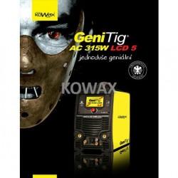 "GeniTig AC 315W LCD 5"" Svař. invertor pro MMA a TIG"