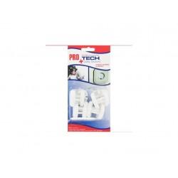 záslepka el. zásuvky kulatá (12 ks) + klíč PROtech